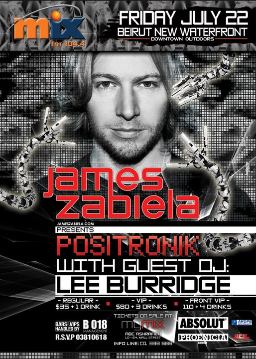 Positronik With James Zabiela And Guest Dj Lee Burridge