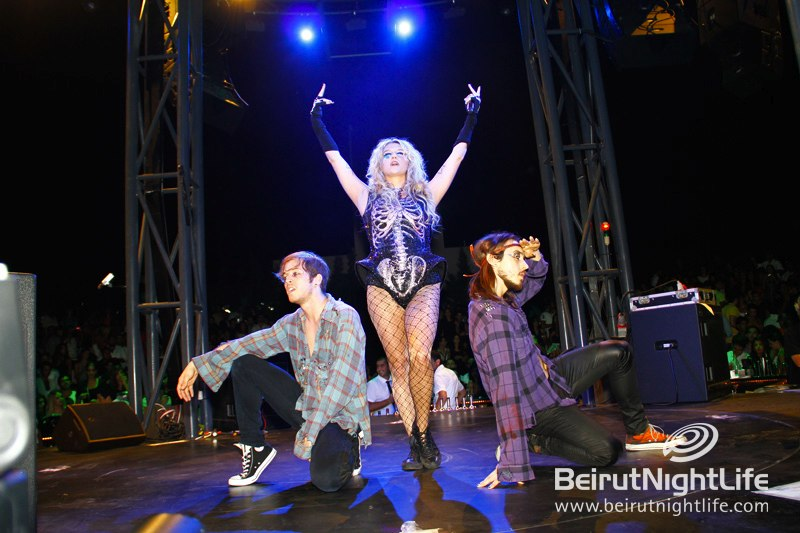 Ke$ha Glitters Up Pier 7