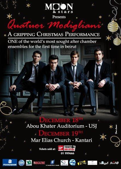 Quatuor Modigliani Christmas Performance In Beirut