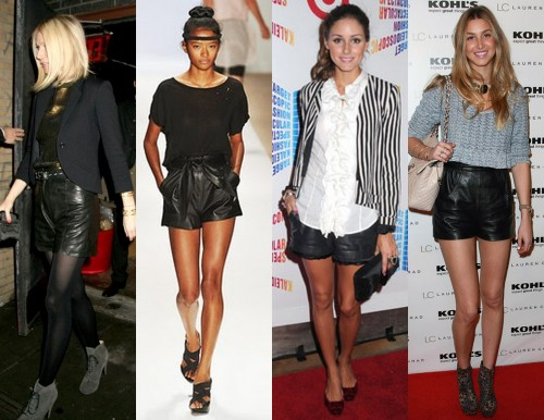 How to Wear Leather Shorts and Skirts