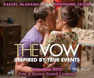 "Win Your Tickets to ""The Vow"" a Perfect Valentines Date at Grand Cinemas"