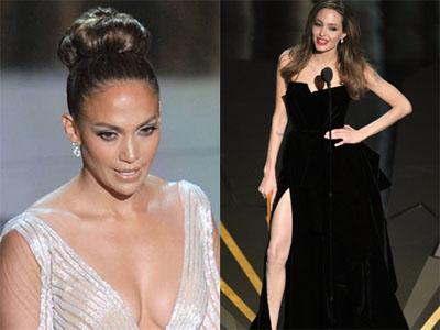 Angelina Jolie's Right Leg Versus J Lo's Nipple