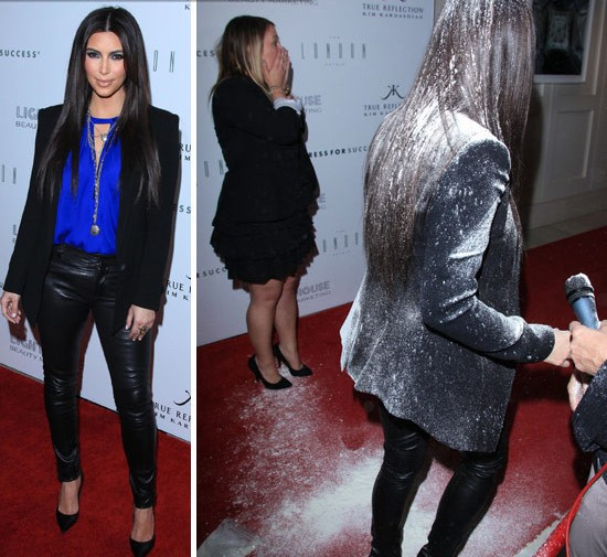 Activist Throws Flour on Kim Kardashian — Kardashian to Press Charges