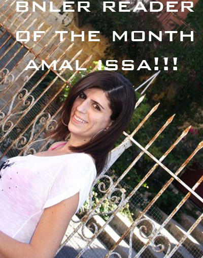 Congratulations Amal Issa, BeirutNightLife.com's Reader of the Month!