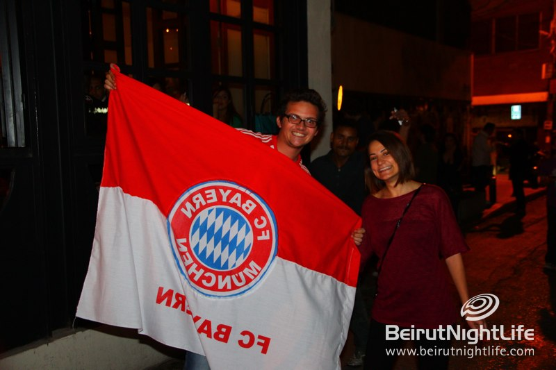 Bayern Munich Fans in Lebanon enjoy the defeat of Real Madrid
