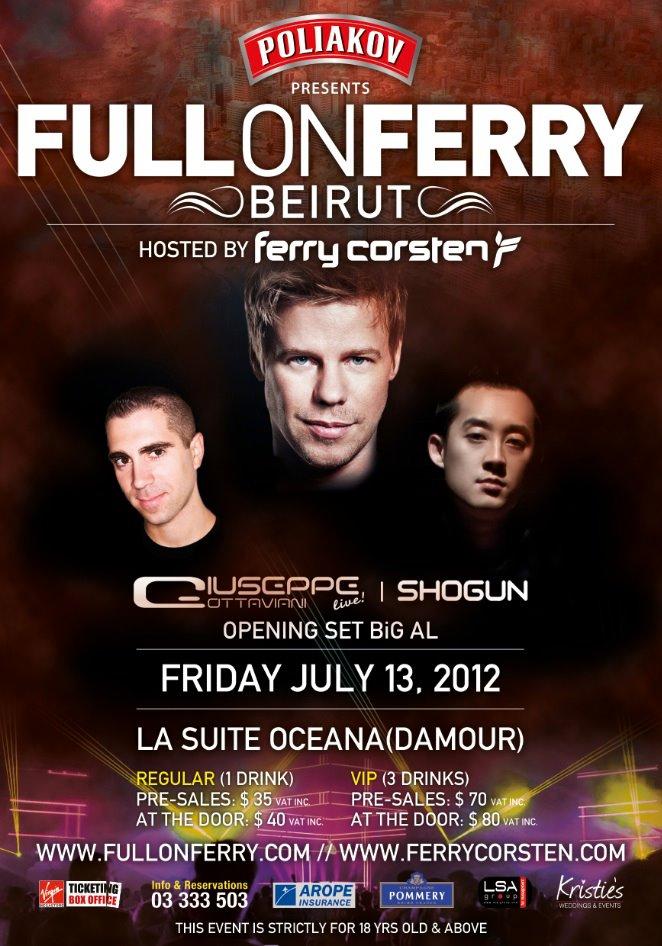 Ferry Corsten Live In Lebanon