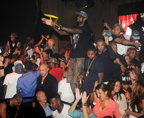 LeBron Celebrates with Champagne till 6 AM!