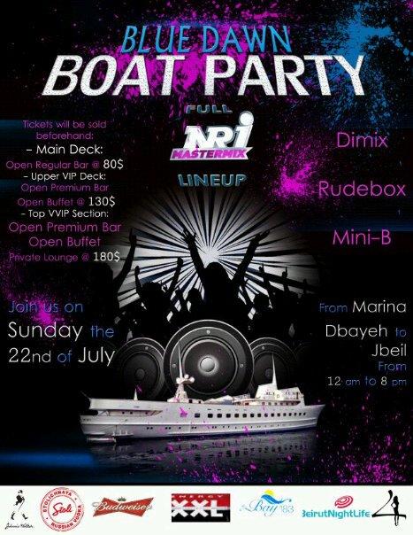 Blue Dawn Boat Party