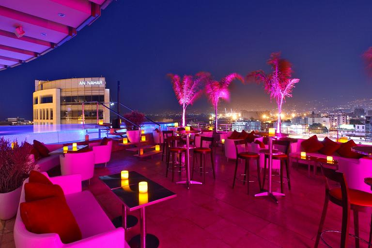 Cherry On The Roof Top At Le Gray Beirut