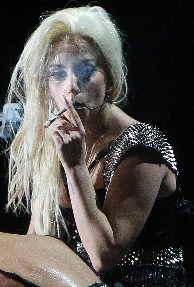 Lady Gaga smokes weed on stage in Amsterdam