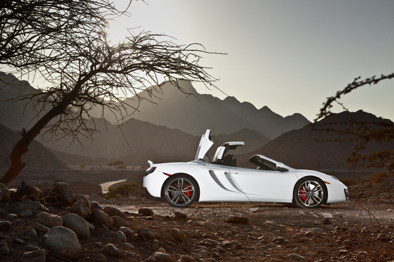 McLaren's MP4-12C Spider begins Middle East tour