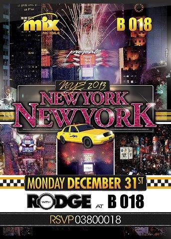 New Year's Eve At B018