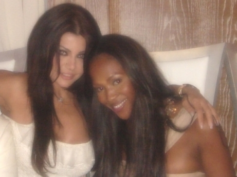 Haifa and Naomi Campbell in Monte Carlo