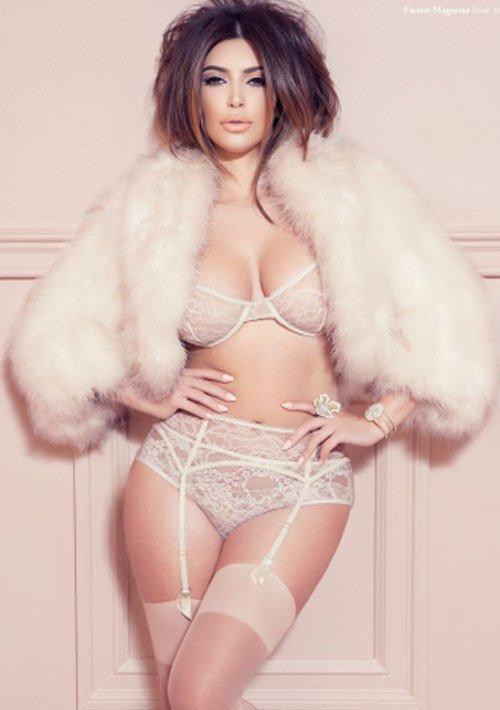 Kim Kardashian Strips Down to Lingerie