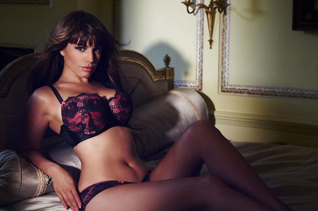 Who's a heffer? Kelly Brook poses in new underwear range looking nothing like a fat cow