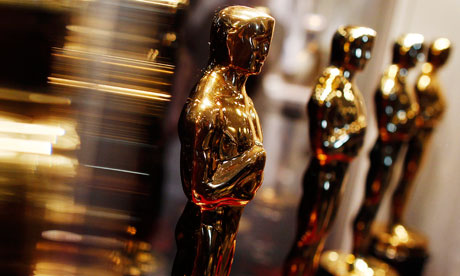 OOscar statuettes are displayed at the Meet the Oscars exhibit in New York