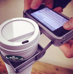 The iPhone case that holds your coffee so you're free to text two-handed