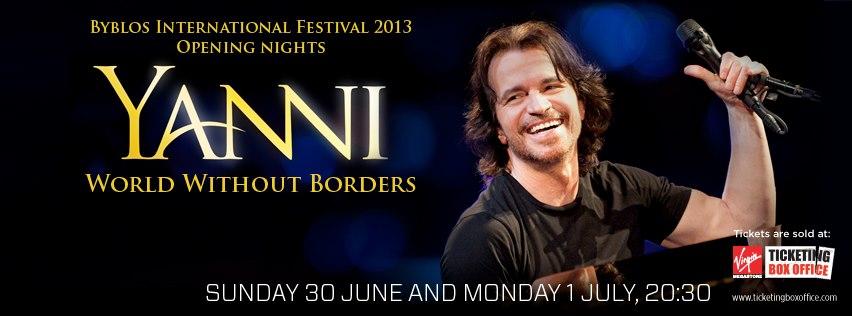 Yanni at Byblos International Festival