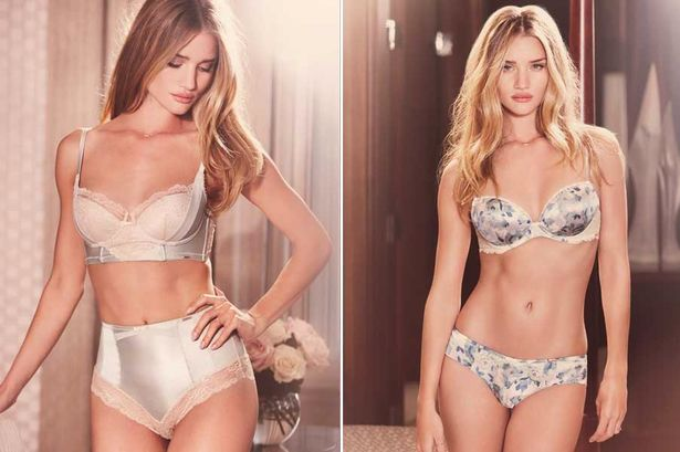 Rosie Huntington-Whiteley strips off for her latest underwear range