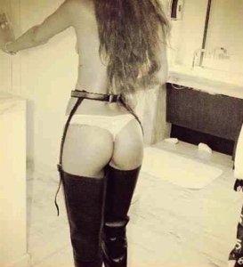 Rihanna Posts Hot Thong Photo, Thanks Prada For the Boots