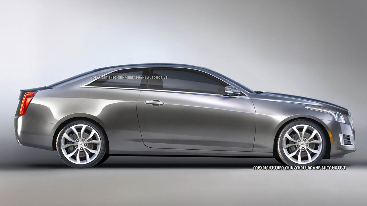 imagine the new cadillac cts as a coupe in 2014 bnl. Black Bedroom Furniture Sets. Home Design Ideas