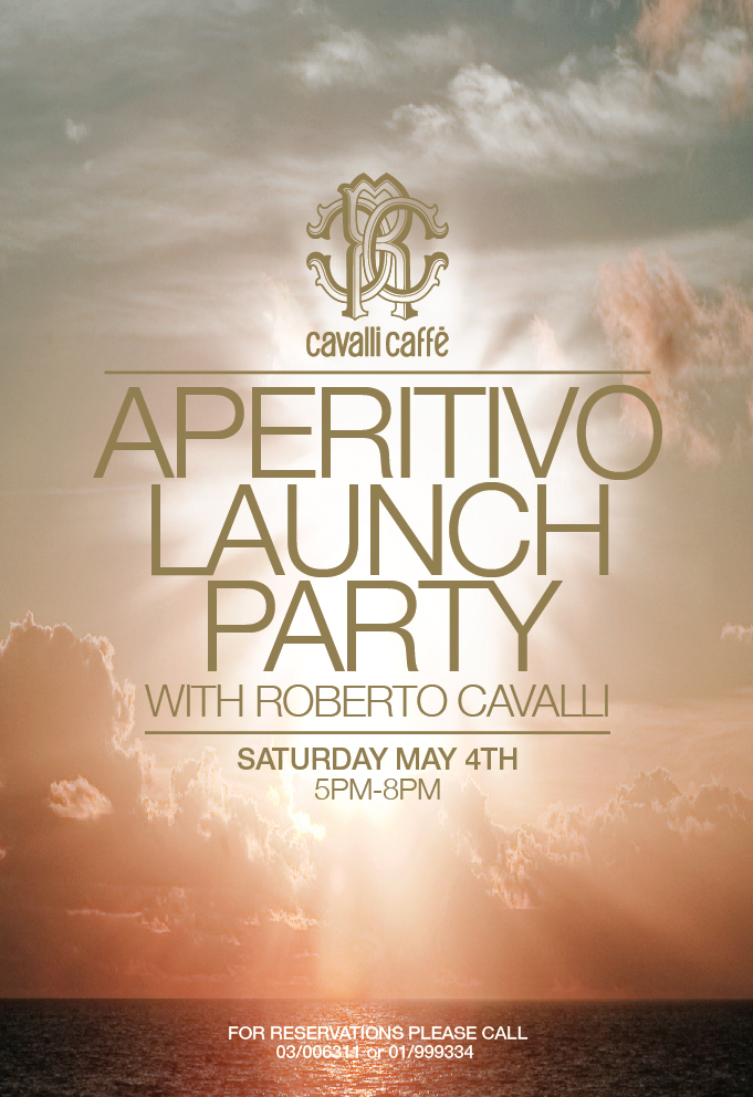 Roberto Cavalli to launch the Aperitivo at Cavalli Caffè Beirut