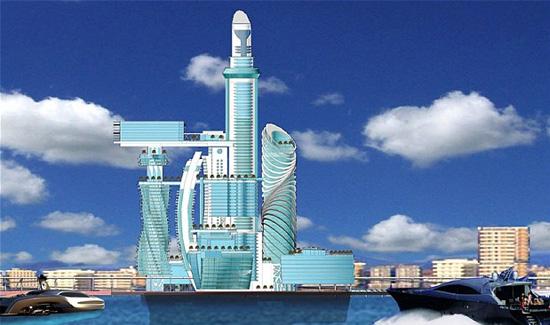 Dubai-style-island-Barcelona