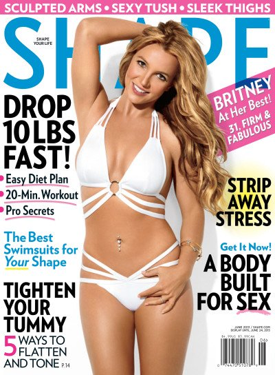 Britney Spears Shape Cover: A Bikini Body Built For …