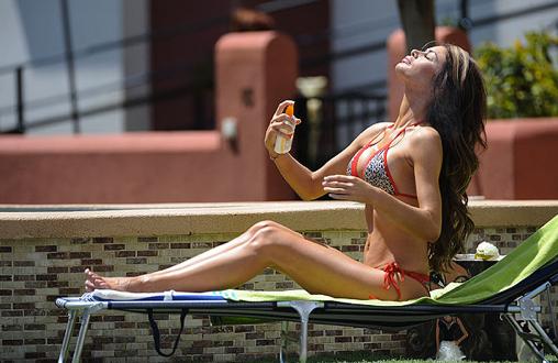 Chloe Sims shows off her bikini body in skimpy two-piece