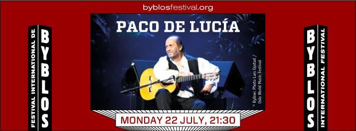 Paco de Lucía at Byblos International Festival