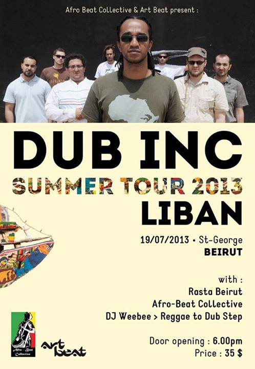 DUB INC Live in Beirut at St.Georges Bay