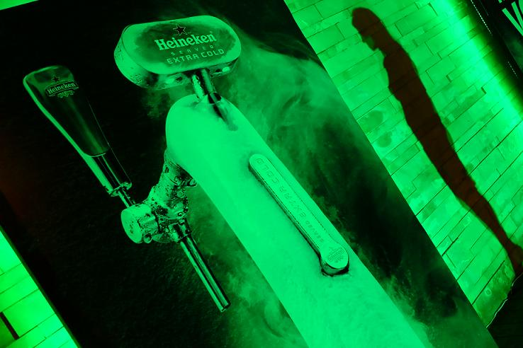 There's an Ice-Cold Heineken Fountain at La Plage!