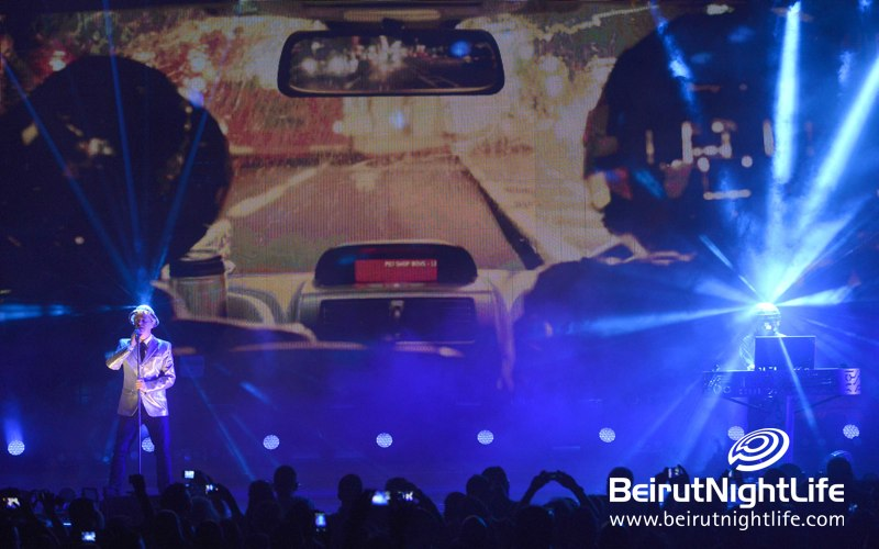 "Pet Shop Boys ""Domino Dancing"" performance at Byblos Festival 2013"