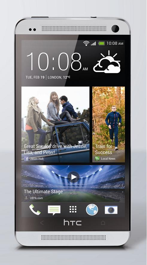 HTC One Silver Front