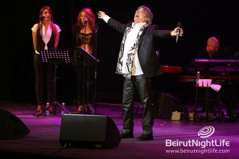 French Legend Herve Vilard Wows at Casino du Liban