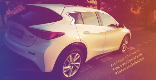 Test driving the INFINITI Q30