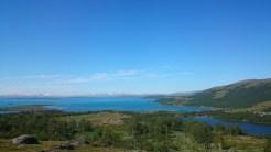 Vy mot sjön Virihaure
