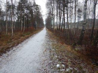 Långa raksträckor när man följer gamla järnvägsleder