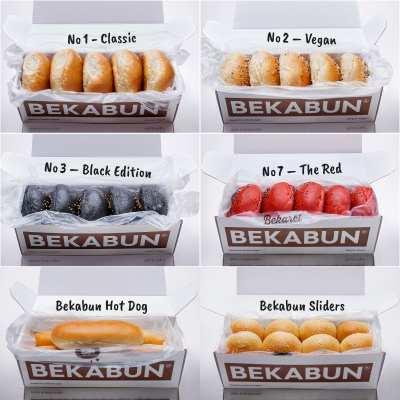 BEKABUN® Super 6-Paket unsere besten Brötchen für Burger und BBQ Online kaufen und nach Hause liefern lassen