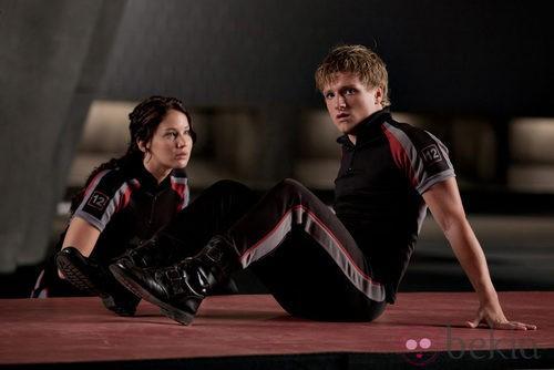 Jennifer Lawrence y Josh Hutcherson en la película 'Los juegos del hambre'