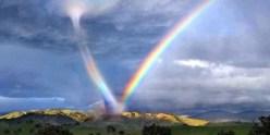 A tornado and rainbow