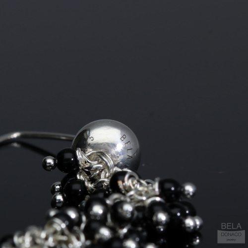 Oorbellen Wrap Wire – mat Onyx – Sterling Zilver