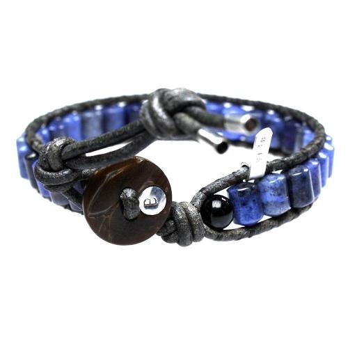 Armband Classic B6 – Blauw – Sodaliet – Leer