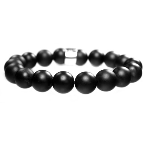 Armband Luxury B12 – Stone washed Onyx – Sterling Zilver – 50% korting