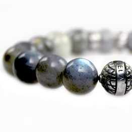 Armband Supreme Luxury B12 – Labradoriet – Geoxideerd Sterling zilver – 50 % Korting