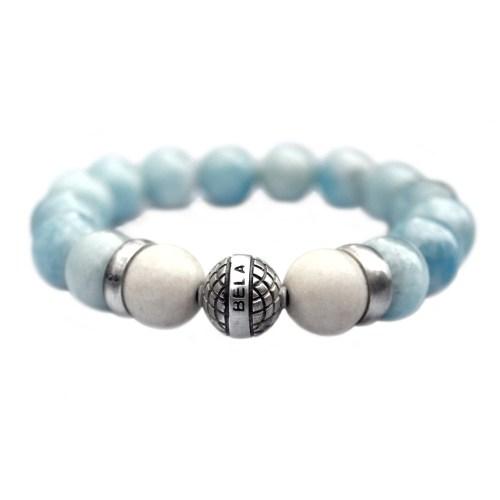 Armband Supreme Luxury B12 voor dames – Blauw – Aquamarijn – Geoxideerd Sterling zilver – 50% korting