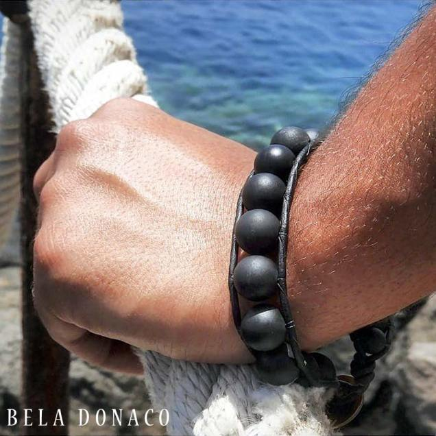 armband Onyx kralen