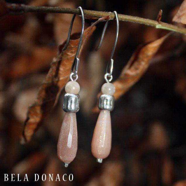 Handmade Zonnesteen en Sterling Zilveren oorbellen