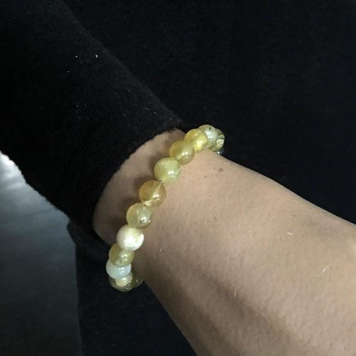 Armband Basic  B8 – gele Opaal – naturel leder – Sterling Zilver