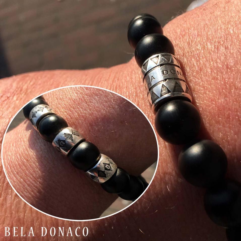 Nieuwe Luxury herenarmband met nieuwe Bela Donaco kralen